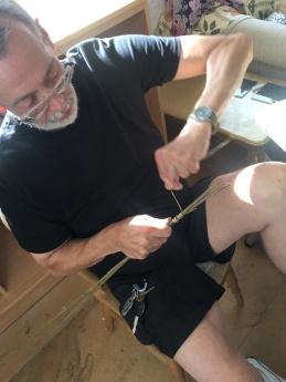 Bob Working on Butterflies