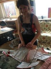 Ellie working on her tutrle