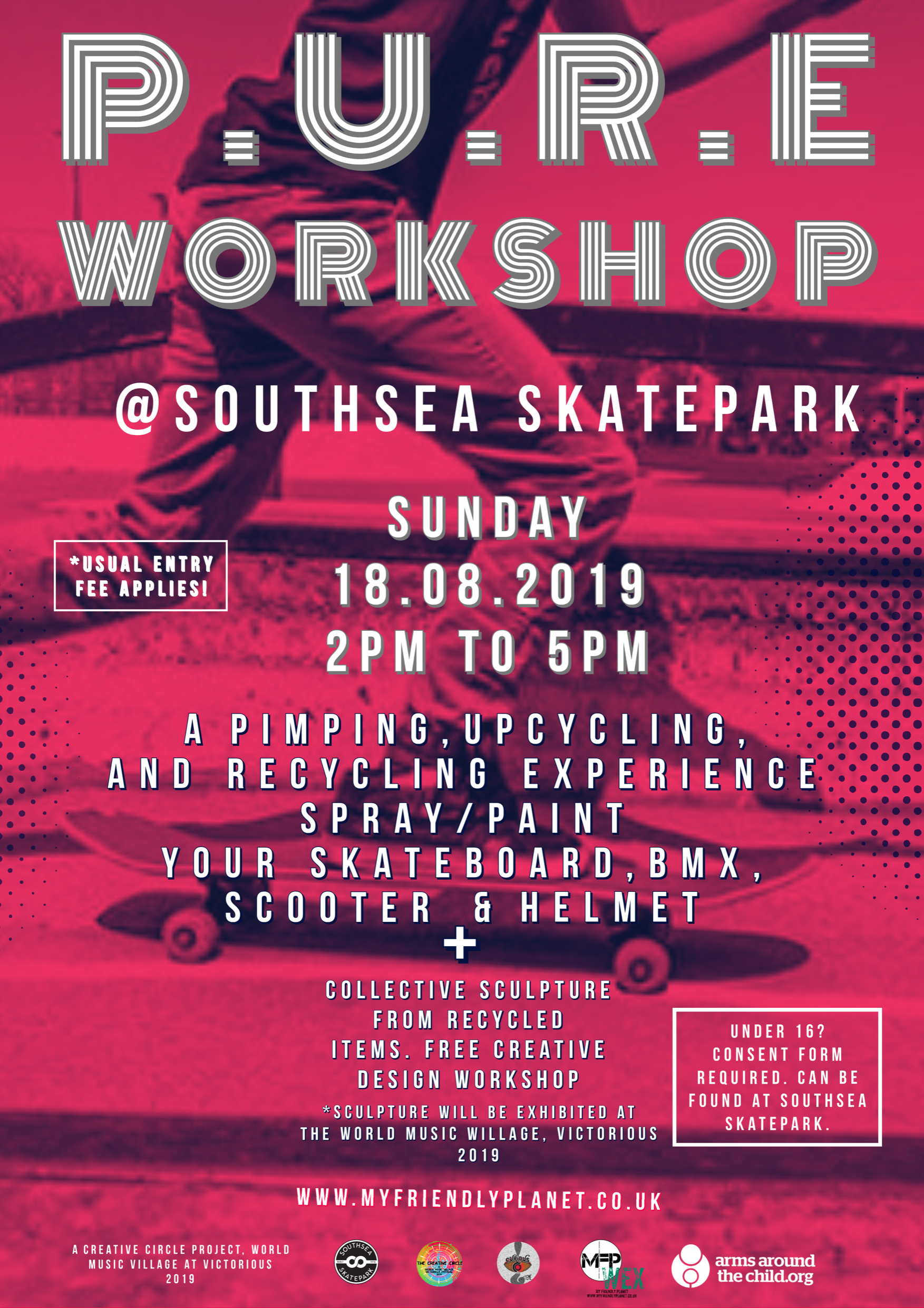 PURE Pimping_ Upcycling and Recycling Experience at Southsea Skatepark MFP 2019