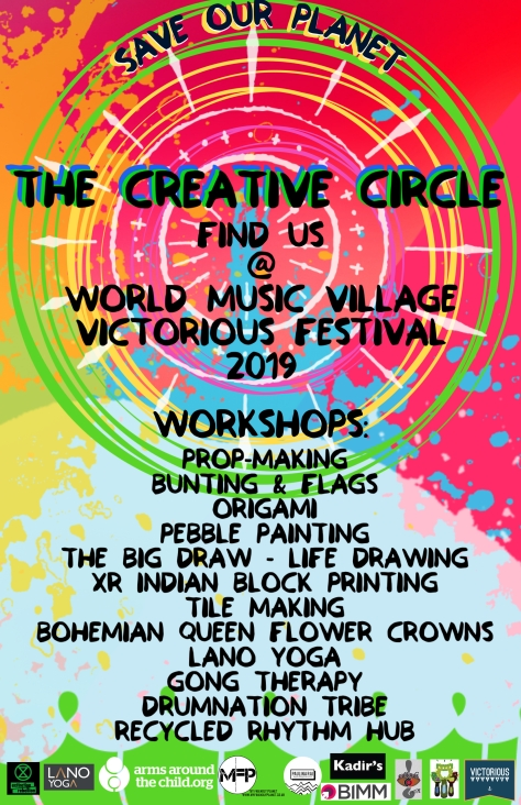 The Creative Circle World Music Village at Victorious Festival Poster 2019